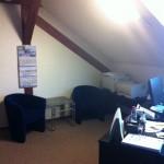Interiér - kancelária v podkroví.